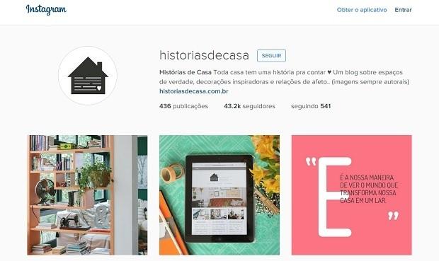 Histórias de casa perfis no instagram para quem gosta de decoração