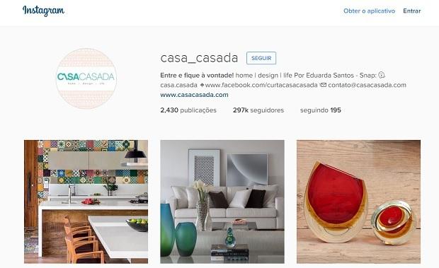 casa casada perfis no instagram para quem gosta de decoração