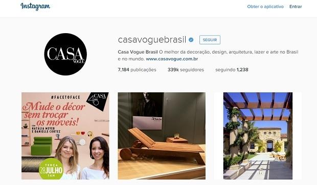 Casa Vogue perfis no instagram para quem gosta de decoração