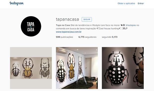 Tapa na Casa perfis no instagram para quem gosta de decoração