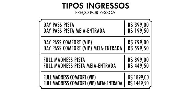 preços dos ingressos do tomorrowland brasil 2016