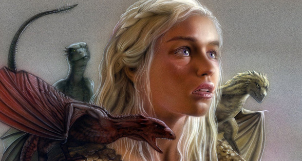 Daenerys e seus dragões