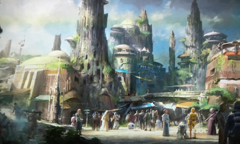 Artes conceituais: Star Wars Land