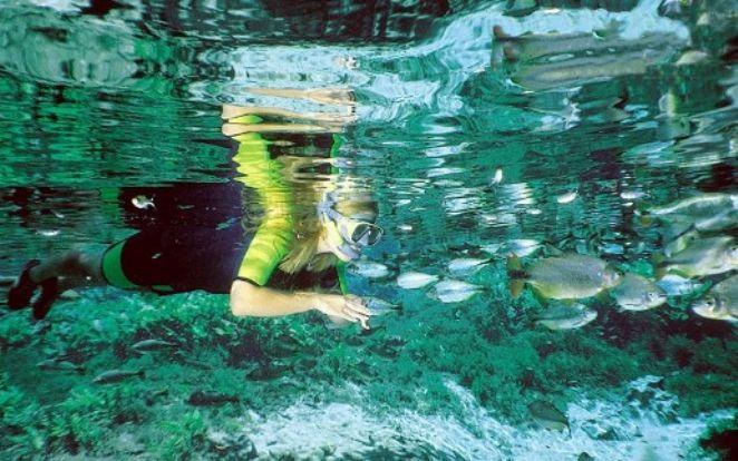 Flutuação no Rio Baía Bonita