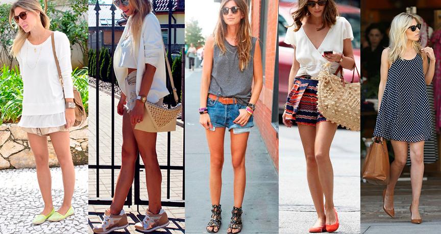 ideais de look sem salto para o verão