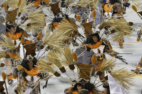 Desfile de Carnaval em São Paulo