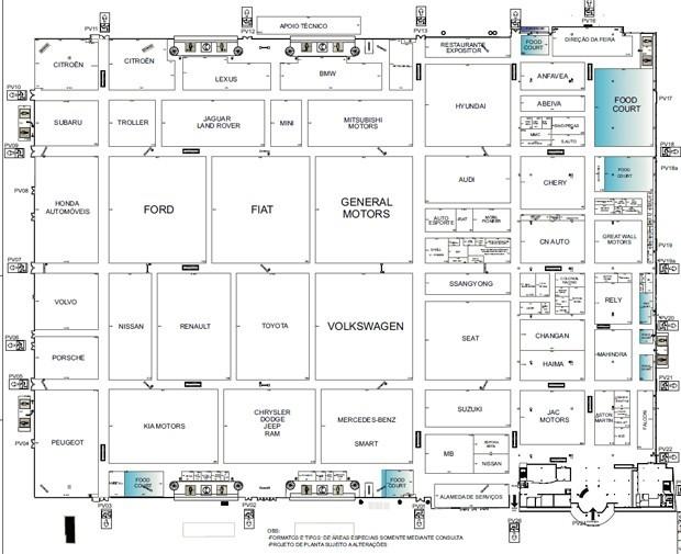 Mapa Salão do Automóvel