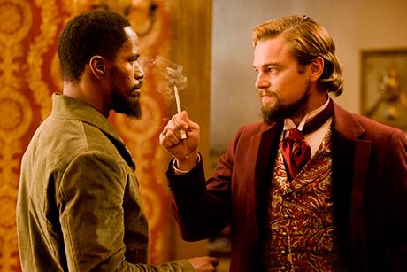 Jamie Foxx e Leonardo DiCaprio contracenam em Django Livre